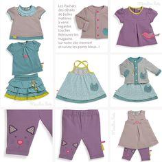 Découvrez les petits habits été Pachats 2015 - collection fille sur le blog : http://www.moulinroty.fr/blog/