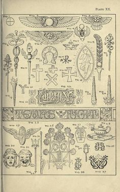 Theory and practice of design, and advanced text-book on decorative art Occult Tattoo, Occult Art, Spirit Magic, Alchemy Art, Tattoo Flash Art, Map Design, Design Patterns, Art Courses, Antique Illustration