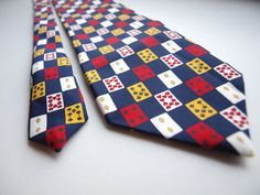 Playing Cards vintage mens necktie St by SillyPurpleZephyre
