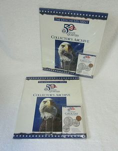 Mint 50 State Quarters Collector's Archive with Hand Inspection Glass and Record Booklet. This allows you to collect both circulated coins:Philadelphia (P) and Denver (D) mint coins ( I think S. State Quarters, Silver Dimes, United States Mint, Mint Coins, Wall Decor Pictures, Proof Coins, Wall Maps, Album Book, Albums