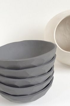 Faceted Dish (Grey) – Home Apparel