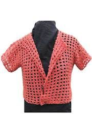 Love this cute Fab-Cro Jacket. From the description, looks like it's crocheted from side to side. Pattern for sale at Annie's