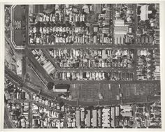 Aerial photograph of Newmarket Saleyards and surrounds, illustrating railway…
