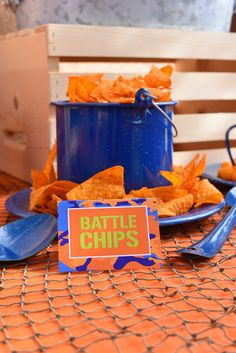 Nerf Party Food Ideas: Battle Chips Doritos More