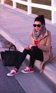 converse rojas mujer 39