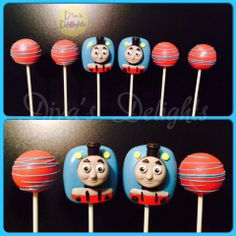 Thomas the Tank Engine Cake Pops #Thomasthetrain #thomasandfriends #thomascakepops #thomasthetraincakepops