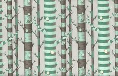 Sale Tula pink forest stripe in JADE - Bumble bee fabric - half yard Tula Pink Fabric, Bee Fabric, Fabric Tree, Quilting Fabric, Cotton Fabric, Pink Forest, Tree Forest, Missouri, Pink Castle