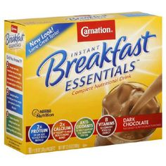 Carnation Instant Breakfast Dark Chocolate, 10-Count Box (Pack of 6) - http://sleepychef.com/carnation-instant-breakfast-dark-chocolate-10-count-box-pack-of-6/