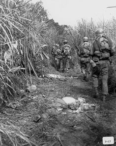 Merrill's Marauders on the move in Burma, 1944.Burma is now Myanmar...near Thailand.