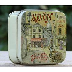 Scatola di latta Savonnerie de Nyons