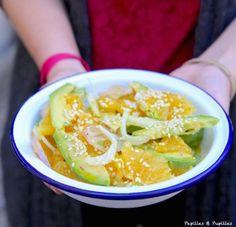Salade d'avocat, orange et fenouil au sésame                                                                                                                                                     Plus