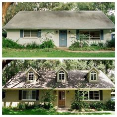 There's a million houses like these around town -- it amazing what you can do with a little imagination!