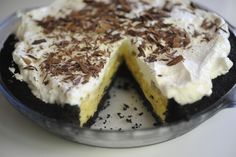 "Banana Cream Pie--(blogger said it's ""hand's down"" her favorite dessert)"