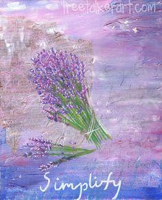Lavender Painting  Mixed Media Art  Garden Painting  by treetalker, $16.00 Plant Painting, Garden Painting, Lavender Garden, Lavender Fields, Lavender Quotes, Lavender Paint, Linen Spray, Art Studies, Simple Art
