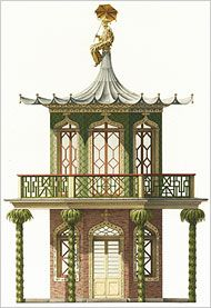 illustration : pagode, Chinoiserie