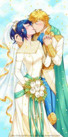 Adrien et Marinette de marient