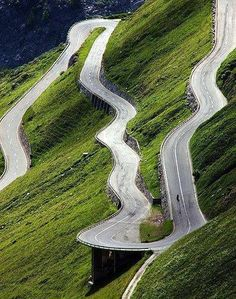 The Furka Pass in the Swiss Alps