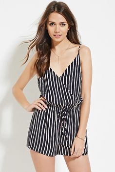 Contemporary Stripe Romper - Playsuits + Jumpsuits - 2000167979 - Forever 21 EU English