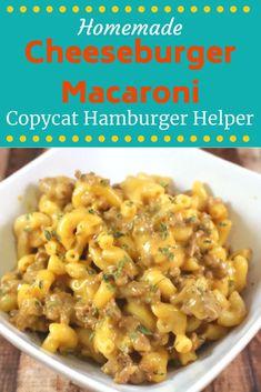 Hamburger Macaroni, Hamburger Meat Recipes Easy, Cheesy Pasta Recipes, Pastas Recipes, Meat Recipes For Dinner, Cheese Burger Macaroni, Homemade Cheeseburger Macaroni Recipe, Easy Macaroni Recipe, Hamburger Dishes