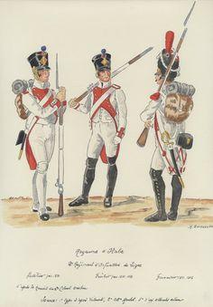1810 - 1812: Regno d'Italia, Fanteria, Linea, 2° Reggimento. 1810, Fuciliere…