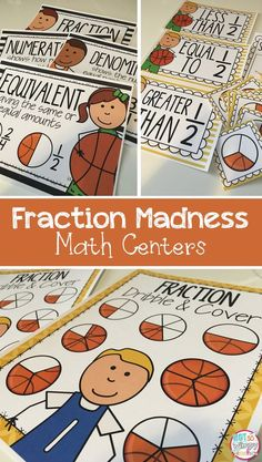Fraction Madness centers are the perfect way to engage students in fun fraction practice. Perfect during March Madness! Can be used whole group or during math centers.