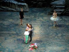 Angel Corella's final Swan Lake at American Ballet Theatre, Angel Corella with Julie Kent and her children http://www.examiner.com/article/changing-of-the-guard-at-american-ballet-theatre