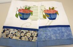Pano de prato/Dishcloth  Pano de prato com aplique de tecido e bordado. Dish towel with  embroidery.