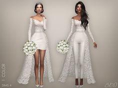 Vestito da sposa, con gonna o pantalone·The sims 4