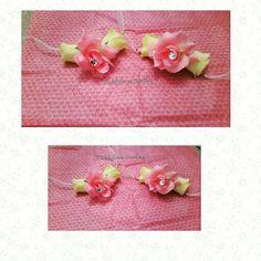 Artificial, keepsake silk bangles by bridal flower jewellery www.bridalflowerjewellery.weebly.com