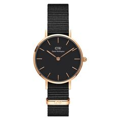 Buy Daniel Wellington Women's Classic Petite Ashfield Mesh Bracelet Strap Watch, Black/Silver from our Women's Watches range at John Lewis & Partners. Daniel Wellington Watch Women, Daniel Wellington Classic Petite, Elegant Watches, Stylish Watches, Watches For Men, Women's Watches, Ladies Watches, Casual Watches, Bracelet Nato