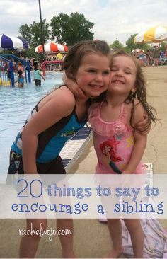 I love summer so much that I'm digging my feet into the ground in effort to make it slow down a bit. However, there is one thing that has wearied me a bit- perhaps you've heard of it? SIBLING RIVALRY! Use this list of positive words to combat the negativity.