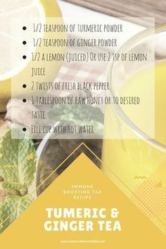 Give your immune system a boost this winter with this Tumeric, Ginger, Lemon and Honey Tea. Click on the link for more health benefits of adding tumeric into your diet.