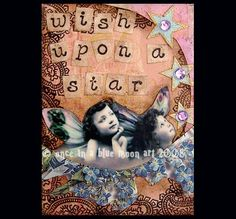 WISH UPON A STAR  FAIRY  Altered Art Card by LisasMenagerie, $5.99