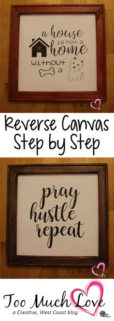 Step by step procedure of how to make Reverse Canvas signs.