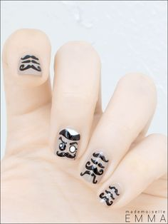 Have a look at the collection of 20 + cool mustache nail art designs, ideas, trends & stickers of Stay beautiful and get dressed always Nail Art Moustache, Nail Art Designs, Cool Mustaches, Different Nail Designs, Nail Art Hacks, Creative Nails, Sansa, Gorgeous Nails, Cool Nail Art