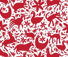 affordable otomi fabric from spoonflower