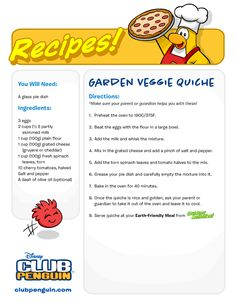 Penguin recepies   Club penguin cheats and tips by manija4 and smedi