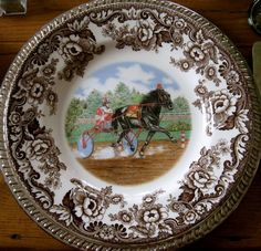 Far Above Rubies: Ralph Lauren-inspired Spode Woodland Brown Dinnerware, Spode Woodland, Champagne Cooler, American Quarter Horse, Victorian Flowers, China Patterns, Plates On Wall, Tablescapes, Table Settings