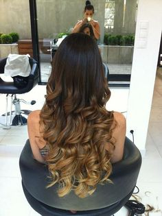 Long hair #fall #winter #blonde #brown #ombre #curls