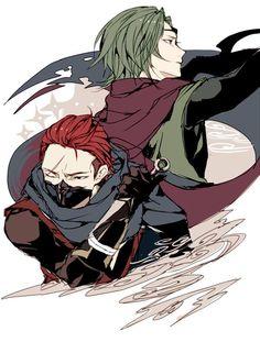Saizou and Kaze - Fire Emblem Fates