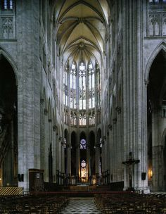 Started in 1225 the choir of the medieval cathedral at Beauvais, France is 157.5 feet, the highest of all Gothic vaults. A fourteen story building could be built inside without touching the roof. This was accomplished in a world of manual labor, hand tools, and simple mechanics.