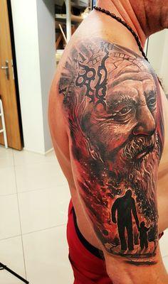 "Father time....tattoo by Kazik ""Kosa"""
