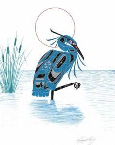 Blue Heron by Richard Shorty