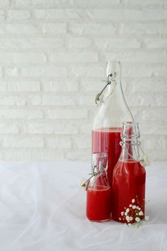 spiced strawberry syrup.
