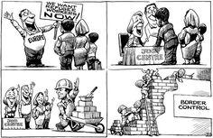 KAL cartoon — Refugees Welcome — Oct 10th 2015