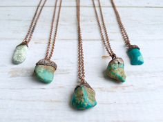 Turquoise nugget necklace | Raw turquoise jewelry | American turquoise pendant | Nevada turquoise necklace | Rough turquoise jewelry  love x