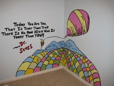 """Just Started Dr. Seuss Murals, Babys Room with a couple Dr. Seuss Murals to start, Freehand of """"Oh the Places Youll Go"""" ~ Just starting in the babys room., Nurseries Design"""