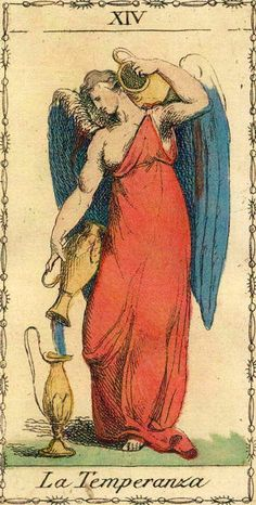 This Ancient Tarot of Lombardy deck is a reproduction of a neoclassical deck published around 1810 in Italy. The original was printed from fine metal engraving plates and hand-colored. Tarot Card Decks, Tarot Cards, Temperance Tarot Card, Haunted America, Tarot Major Arcana, Real Ghosts, Oracle Cards, Fortune Telling, Illustration