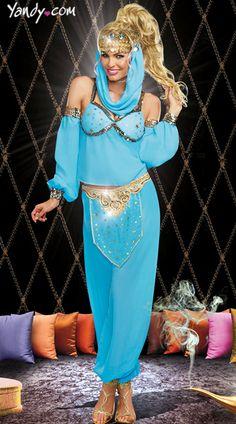 Genie In A Bottle Costume, Genie Costumes For Women, Arabian Nights Costumes