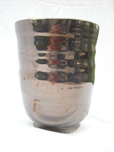 Laura Wowk Pottery palladium glaze over wheel thrown white stoneware..